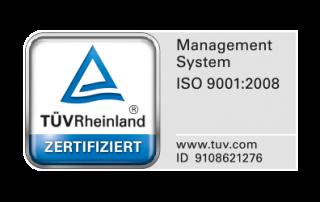TÜV Rheinland Zertifiziert ISO 9001:2008