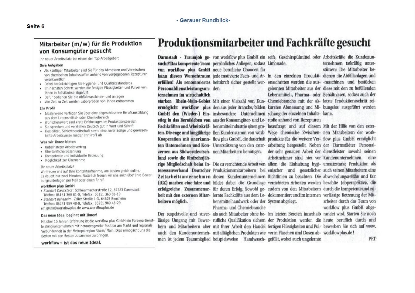 """Workflow Personnel Solutions """"Menschen Kompetenzen Perspektiven """""""
